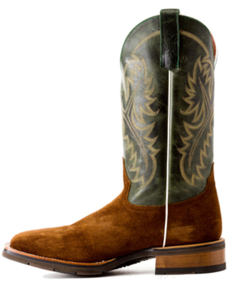 Horse Power Men's Emerald Western Boots - Wide Square Toe, Brown, hi-res