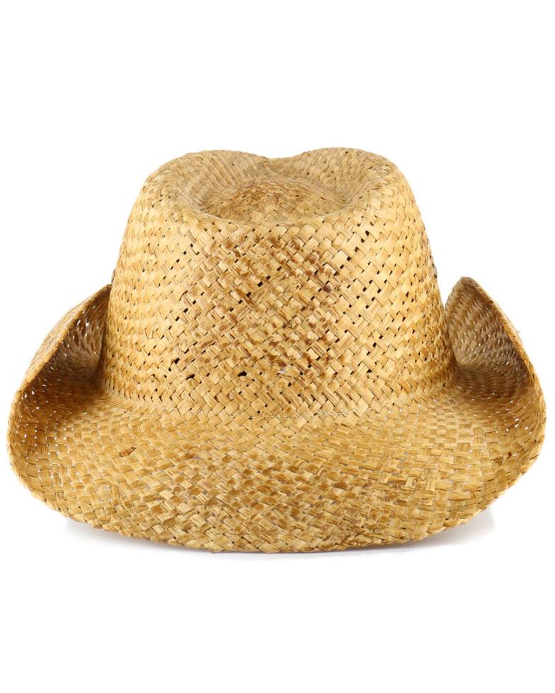 Cody James Maverick Classic Straw Cowboy Hat, Brown, hi-res