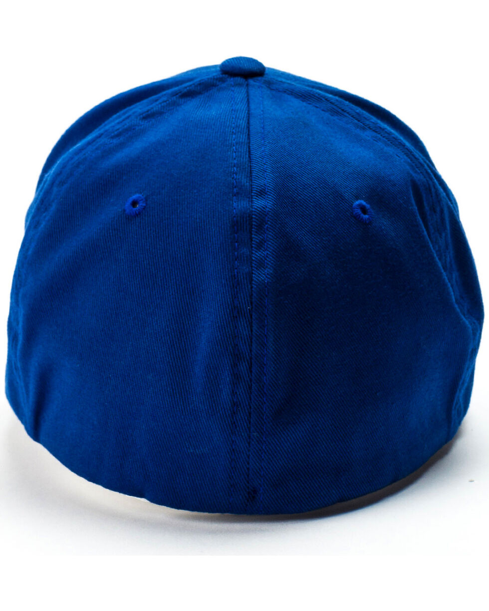 Cinch Men's Blue 3D Logo Flexfit Cap, Blue, hi-res