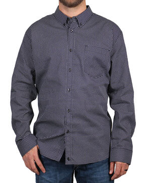 Cody James Men's MGM Geo Print Long Sleeve Western Shirt, Black, hi-res