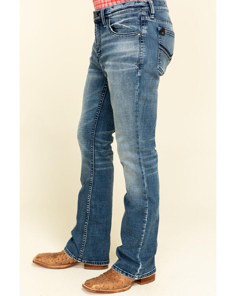 Cody James Core Men's Longhorn Stretch Slim Bootcut Jeans , Blue, hi-res