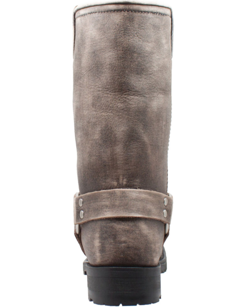 Ad Tec Men's Stonewashed Leather Western Boots - Square Toe, Brown, hi-res