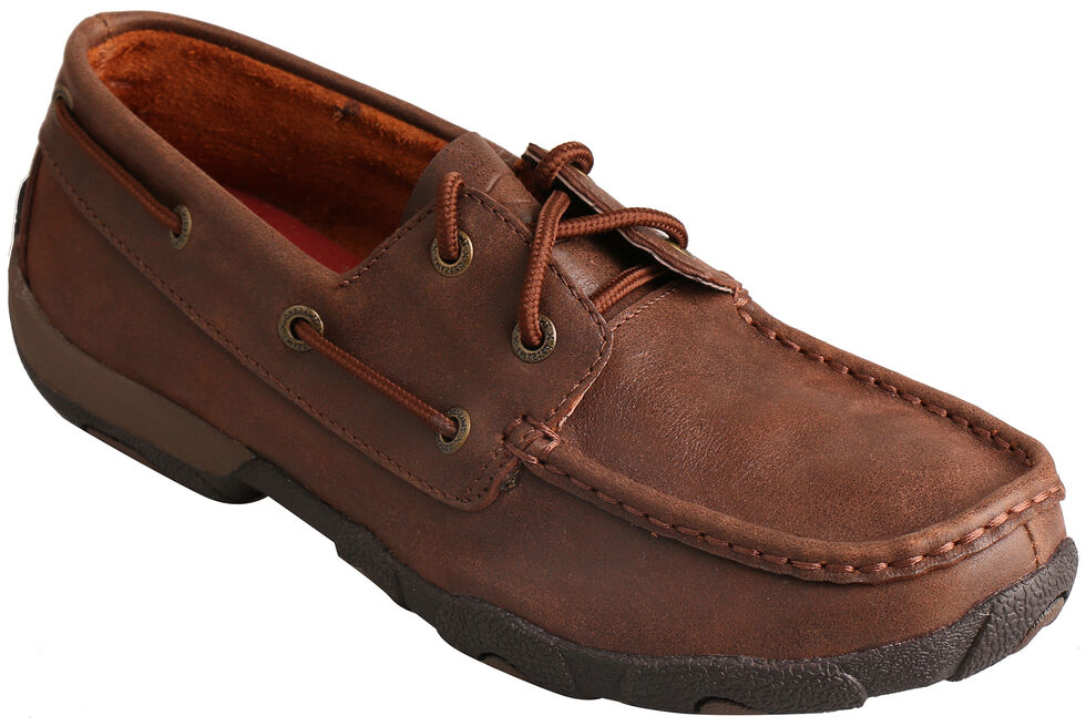 Twisted X Women's Solid Brown Driving Mocs , Brown, hi-res