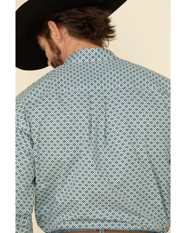 Cinch Men's Grey Diamond Geo Print Button Long Sleeve Western Shirt , Grey, hi-res