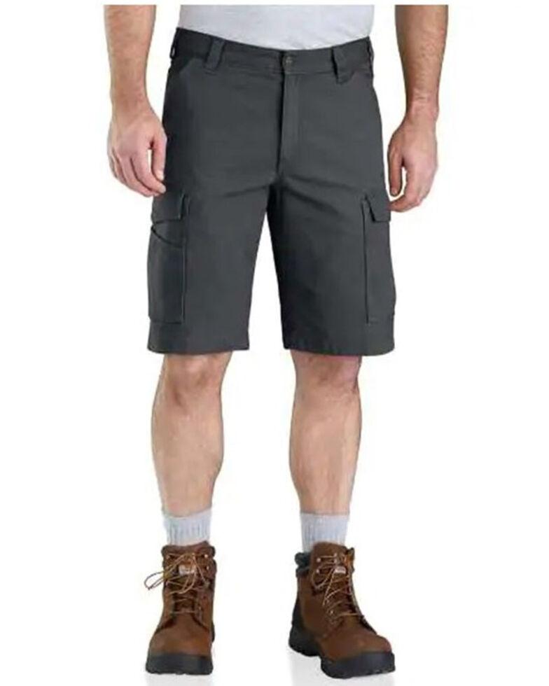 Carhartt Men's Rugged Flex Rigby Work Cargo Shorts , Dark Grey, hi-res