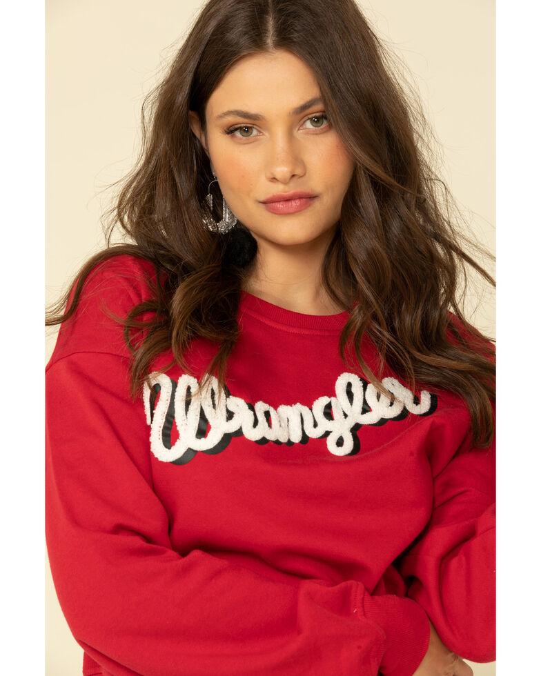 Wrangler Retro Women's Red Logo Sweatshirt , Red, hi-res