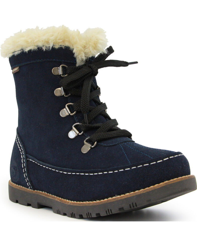 Lamo Footwear Women's Taylor Lace-Up Boots - Round Toe, Navy, hi-res