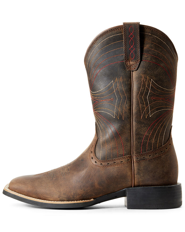 Ariat Men's Sport Cowboy Boots - Square Toe, Brown, hi-res