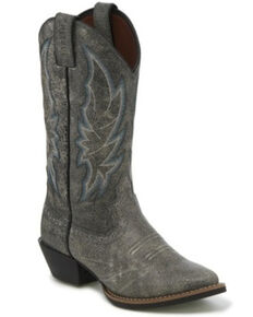 Justin Women's Calimero Graphite Bomber Western Boots - Round Toe, Grey, hi-res