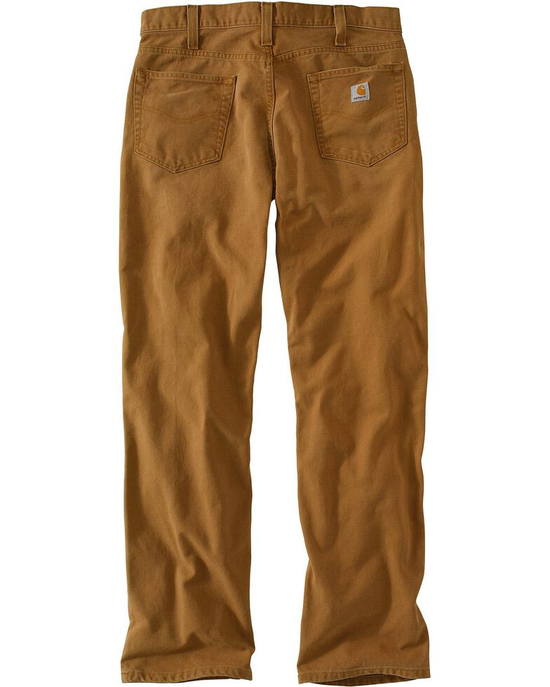 Carhartt Weathered Duck Relaxed Fit Work Pants, Brown, hi-res