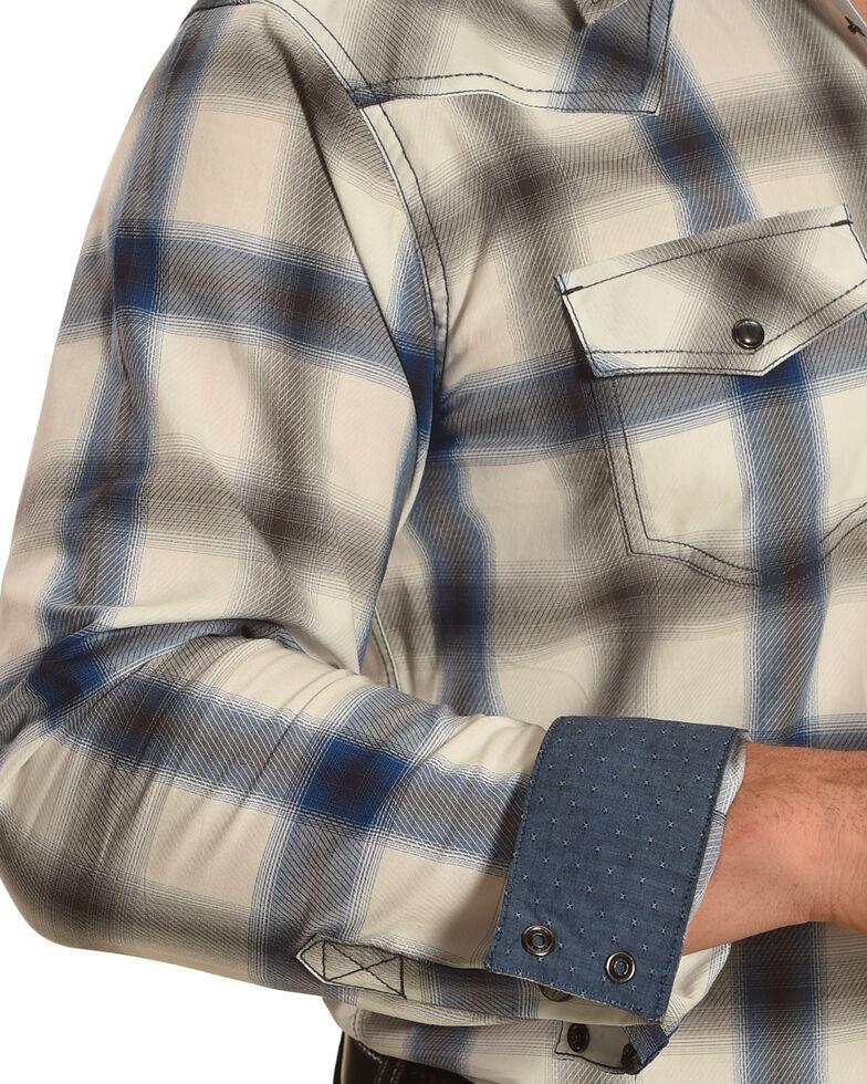 Cody James Men's Big Bend Plaid Long Sleeve Western Shirt, Turquoise, hi-res