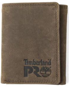 Timberland Pro Men's Dark Brown Basic Trifold Wallet, Dark Brown, hi-res