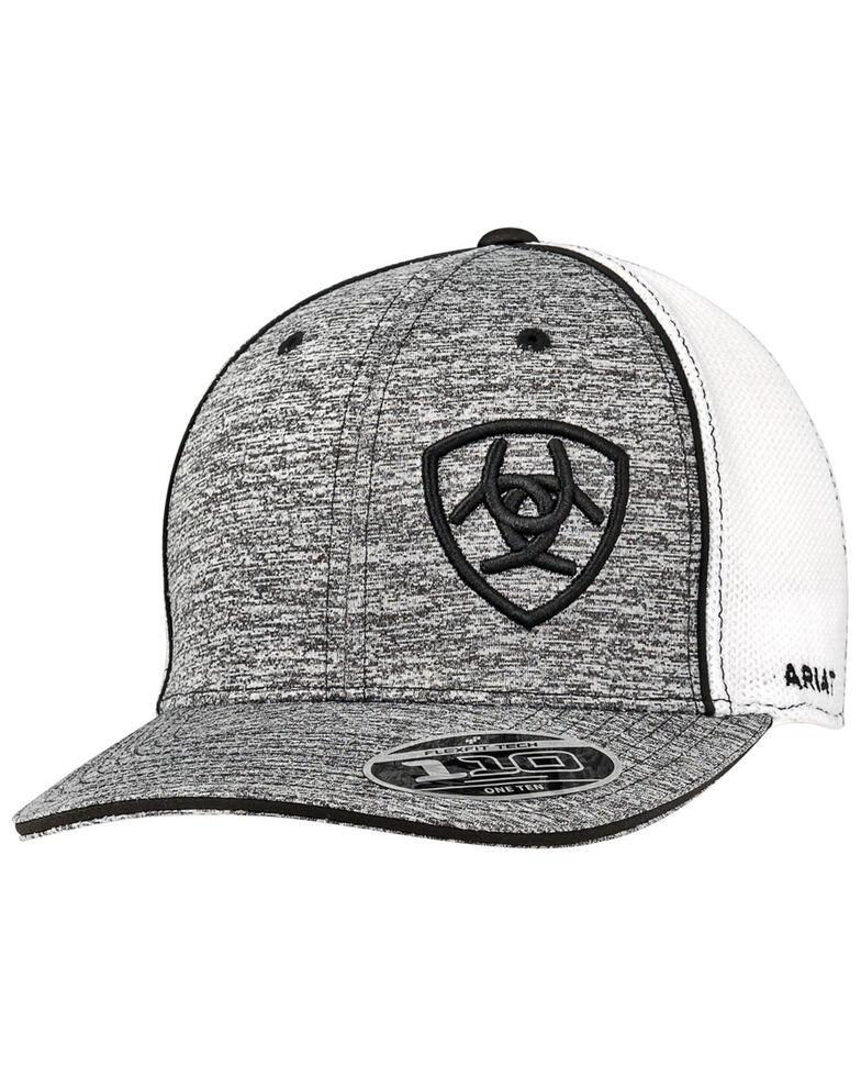 Ariat Men's Black Flexfit Cap, Black, hi-res