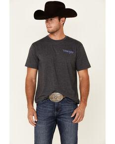 Wrangler Men's Black Logo Ascending Short Sleeve T-Shirt , Black, hi-res