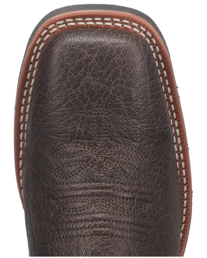 Laredo Men's Taylor Western Boots - Wide Square Toe, Brown, hi-res