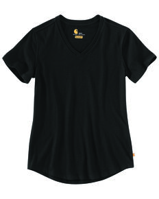 Carhartt Women's Solid Black Relaxed Fit Midweight Short Sleeve Work T-Shirt , Black, hi-res