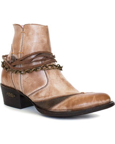 Miss Macie Women's Light Brown Desert Dancer Booties - Medium Toe , Lt Brown, hi-res