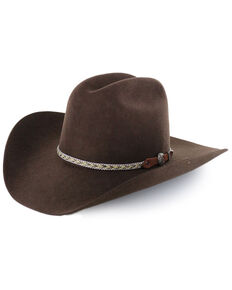 Cody James Men's Ramrod Pro Rodeo 3X Wool Felt Cowboy Hat, Chocolate, hi-res