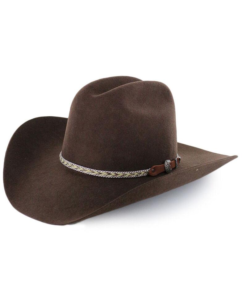 Cody James Men's Ramrod Pro Rodeo 3X Wool Felt Cowboy Hat, Chocolate, hi-res