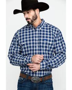 Cinch Men's Multi Plaid Button Long Sleeve Western Shirt , Purple, hi-res