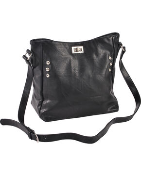 Wear N.E. Wear Women's Double Zipper Concealed Carry Handbag, Black, hi-res