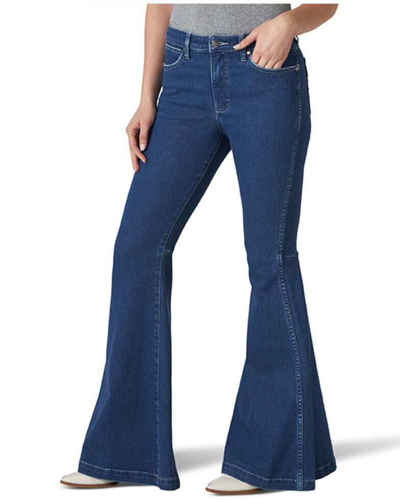 Wrangler Retro Women's Flame Flare Leg Jeans, Blue, hi-res
