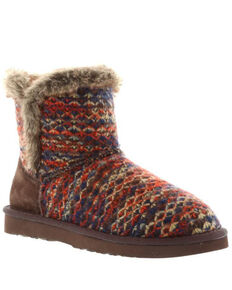 Lamo Footwear Women's Yuma Fleece Boots - Round Toe, Chocolate, hi-res