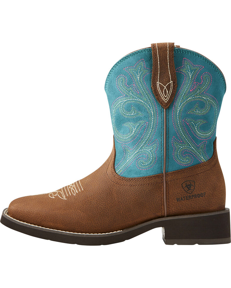 Ariat Women's Brown Shasta H20 Boots - Square Toe , Brown, hi-res