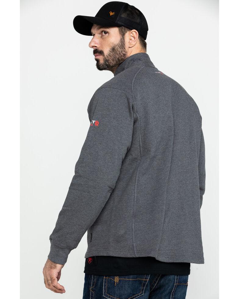 Ariat Men's FR Rev 1/4 Zip Work Pullover - Big , Charcoal, hi-res