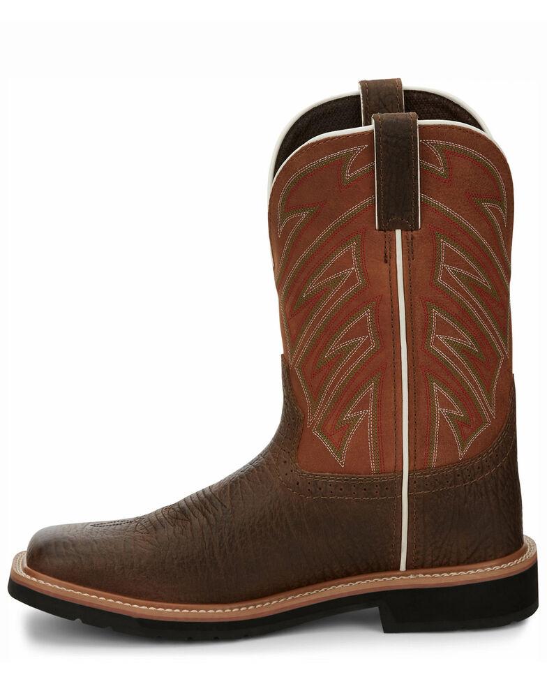 Justin Men's Electrician Western Work Boots - Soft Toe, Chestnut, hi-res