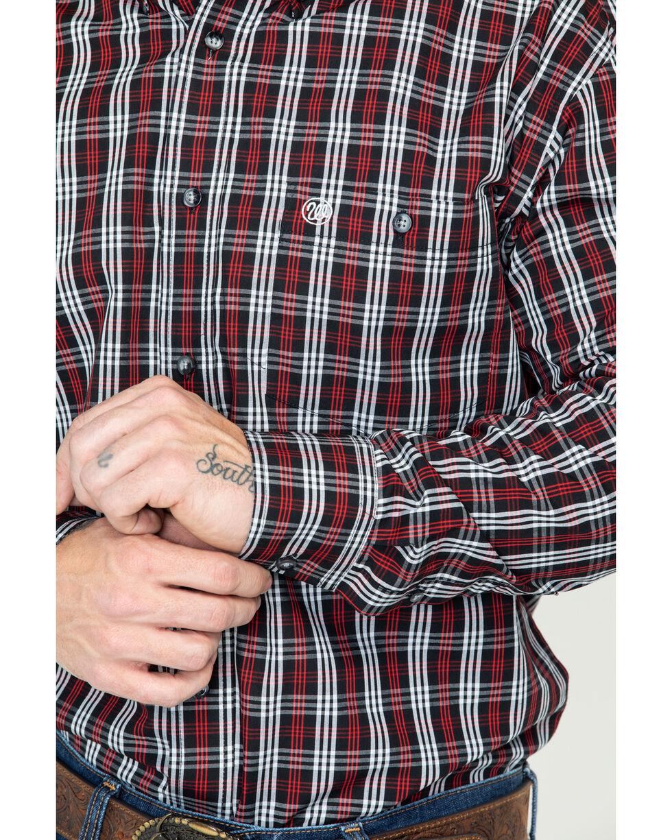 Wrangler Men's Red Classics Long Sleeve Western Shirt, Black/red, hi-res