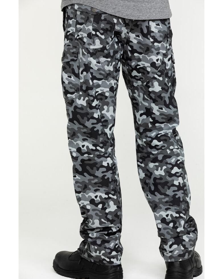 Hawx Men's Grey Camo Stretch Ripstop Moto Cargo Work Pants , Black, hi-res