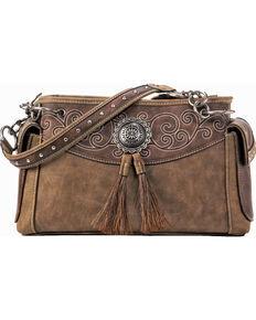 Blazin Ro Tan Molly Satchel Concealed Carry Handbag Brown Hi Res
