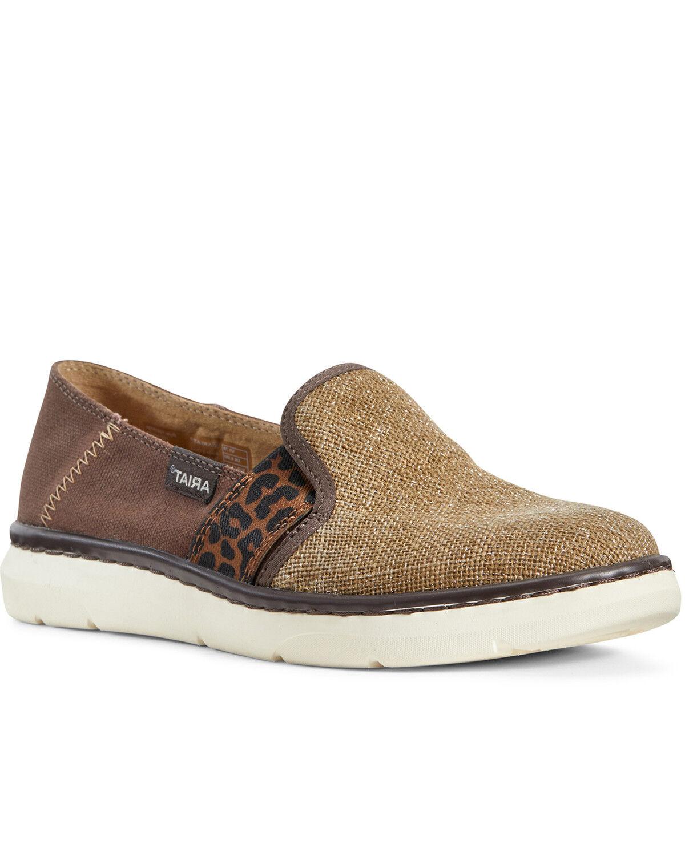 Ryder Slip-On Burlap Shoes - Round Toe