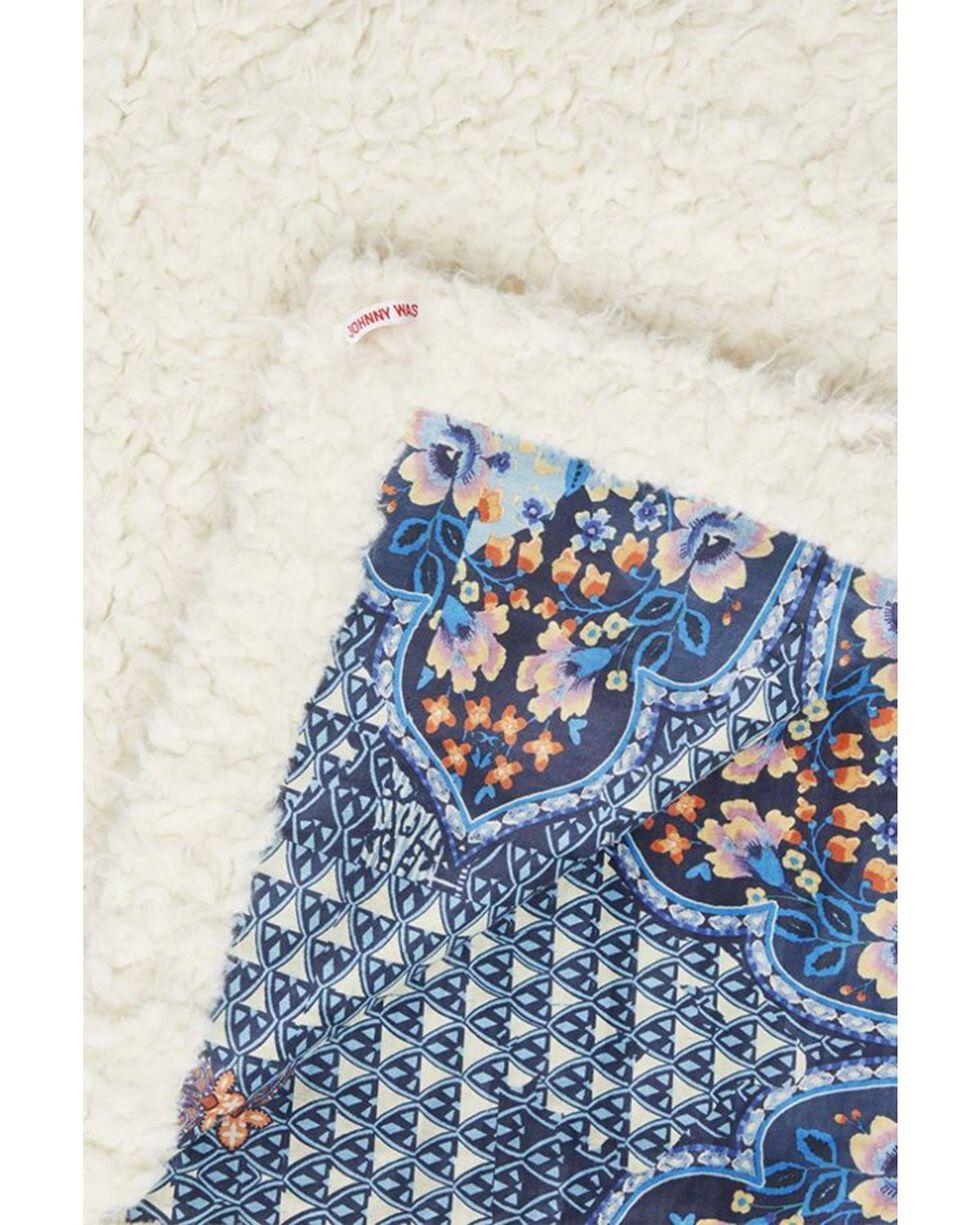 Johnny Was Printed Suede Blanket, Multi, hi-res
