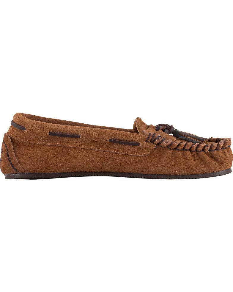 Lamo Footwear Women's Leah Tasseled Moccasins - Moc Toe, Chestnut, hi-res