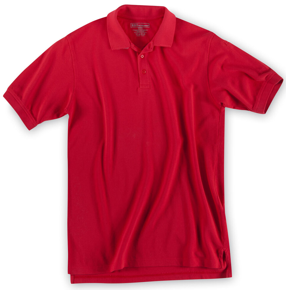 5.11 Tactical Professional Short Sleeve Polo Shirt - 3XL, Red, hi-res