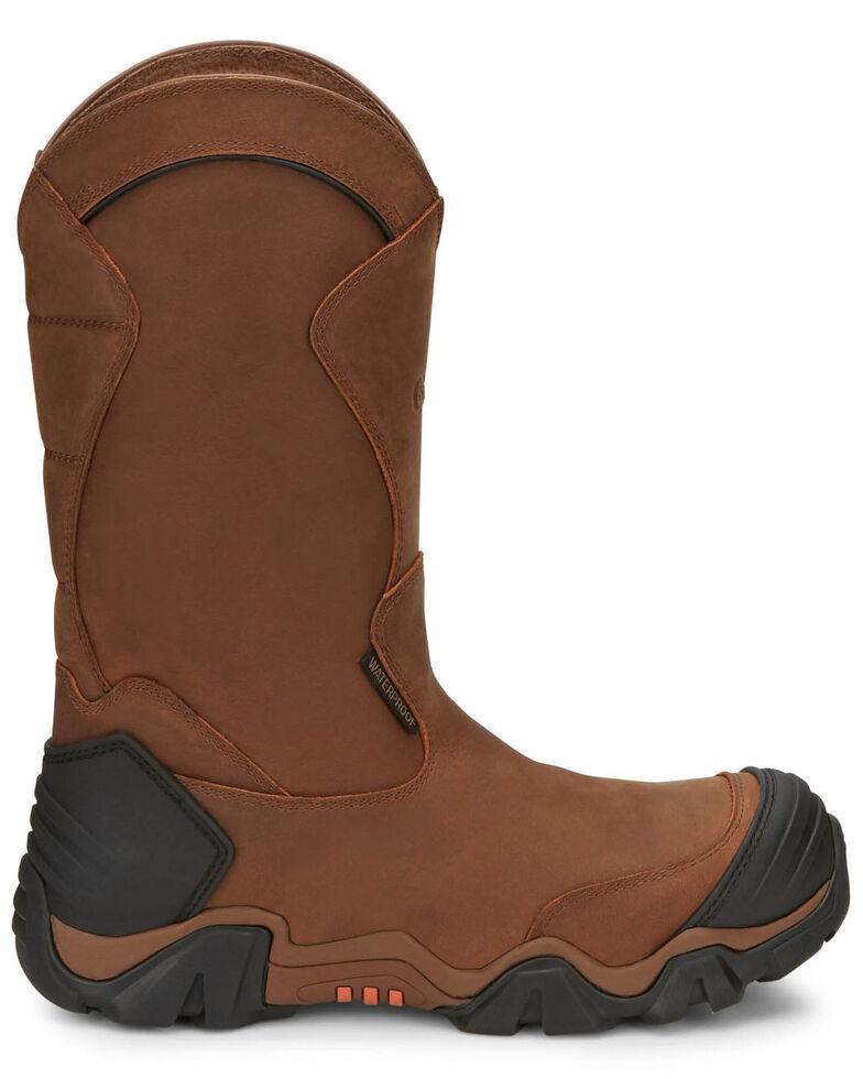 "Chippewa Men's Atlas 12"" Waterproof Work Boots - Composite Toe, Brown, hi-res"