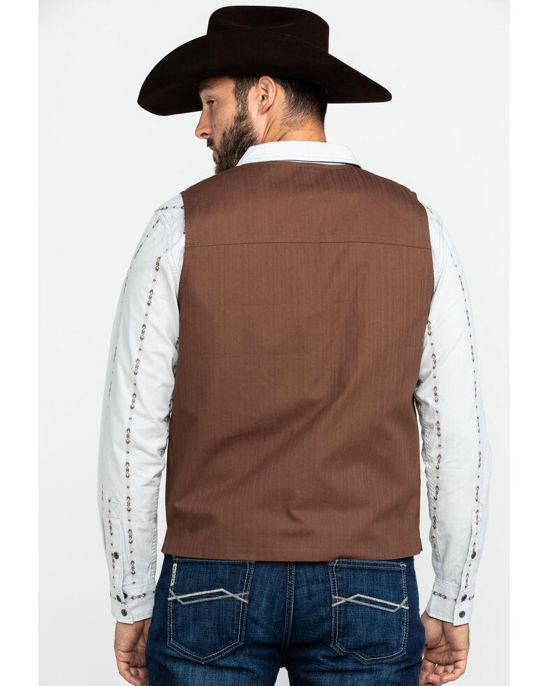 Moonshine Spirit Men's Fleetwood Herringbone Concert Button Vest , Brown, hi-res