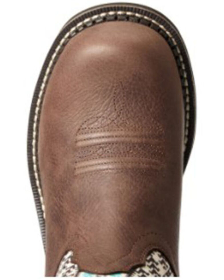 Ariat Women's Twill Western Boots - Round Toe, Brown, hi-res