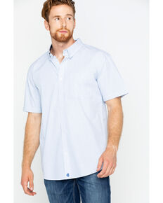 Cody James Men's Flint Short Sleeve Button Down Shirt, Grey, hi-res