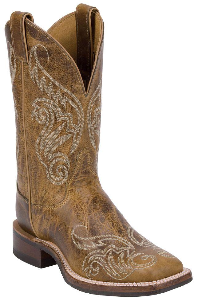 Justin Bent Rail Women's Llano Tan Cowgirl Boots - Square Toe, Tan, hi-res