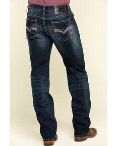Rock & Roll Denim Men's Pistol Dark Reflex Stretch Straight Jeans , Blue, hi-res