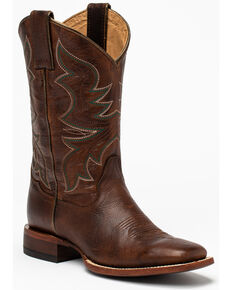 Shyanne Women's Flyght Western Boots - Wide Square Toe, Brown, hi-res