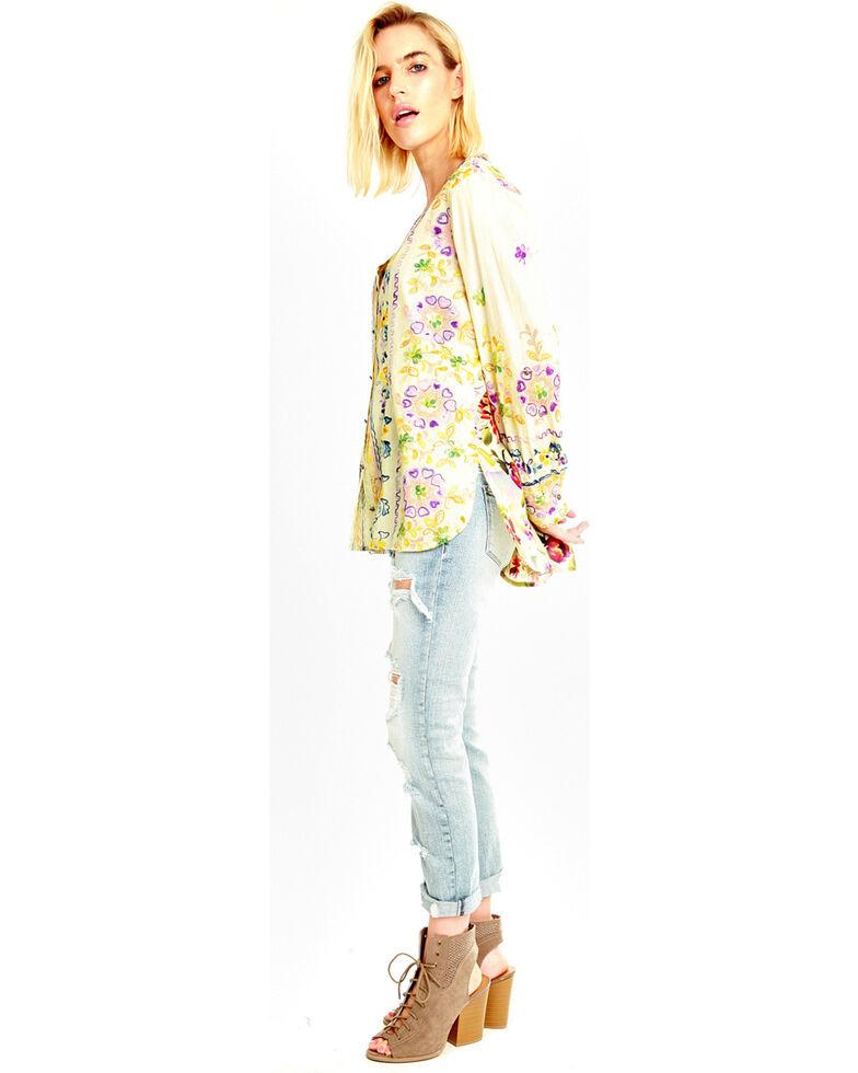 Aratta Women's Dreamland Beach Shirt , Light Yellow, hi-res