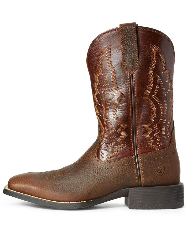 Ariat Men's Sport Riggin Western Boots - Wide Square Toe, Rust Copper, hi-res