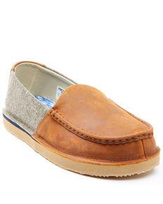 Wrangler Footwear Men's Slip-On Loafers - Moc Toe, Brown, hi-res