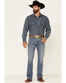 Cody James Men's Luke Light Wash Stretch Slim Bootcut Jeans , Blue, hi-res