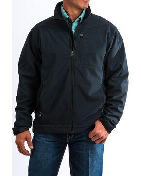 Cinch Men's Textured Bonded Lettered Zip-Up Jacket , Burgundy, hi-res