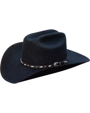 Silverado Men's Clay Structured Wool Felt Cowboy Hat , Black, hi-res